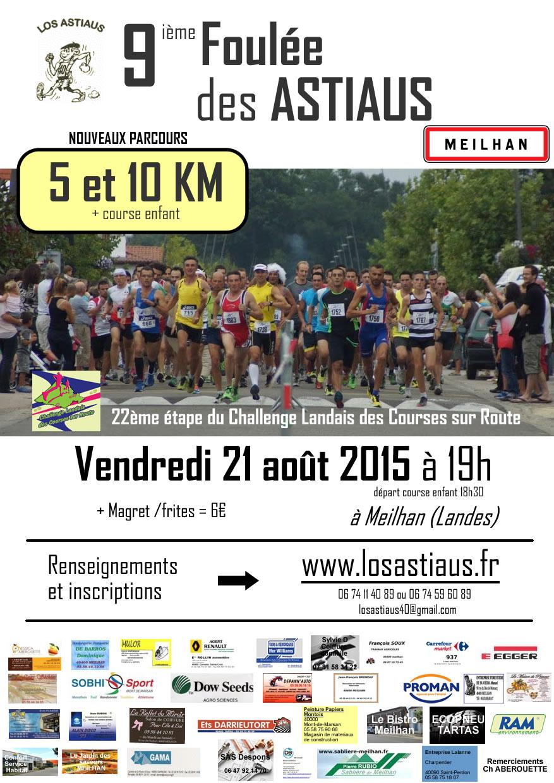 affiche 10km de meilhan 2015